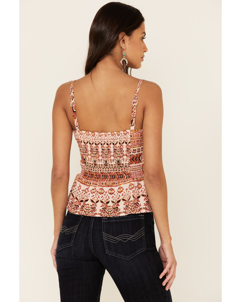 Idyllwind Women's Hot Lil Thang Lacy Cami, Blush, hi-res