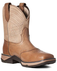 Ariat Women's Anthem Western Boots - Square Toe, Brown, hi-res