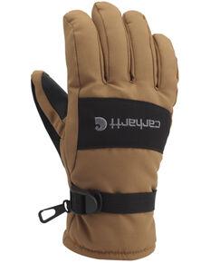 Carhartt Men's Waterproof Work Gloves, Brown, hi-res