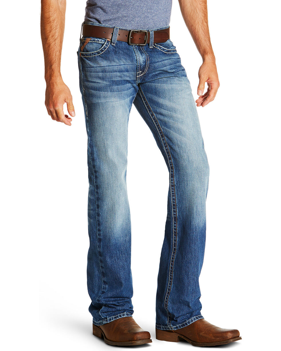 Ariat Men's Blue M7 Cooper Tek Stretch Phoenix Jeans - Boot Cut , Blue, hi-res