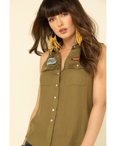 Idyllwind Women's Patches Forever Snap Up Shirt, Olive, hi-res