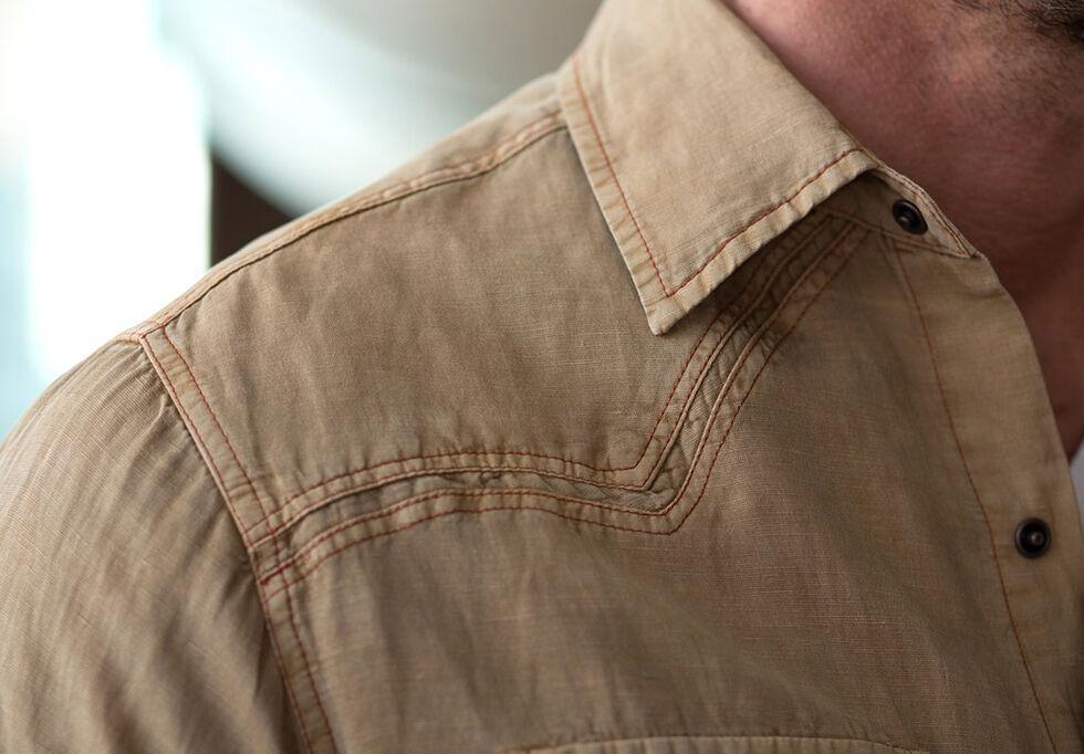 Ryan Michael Men's Split Rail Silk Shirt, Tobacco, hi-res