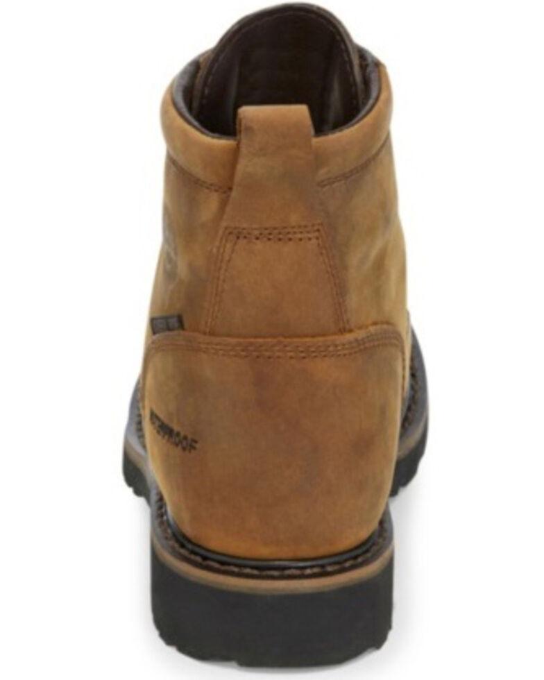 Justin Men's Drywall Waterproof Work Boots - Steel Toe, Brown, hi-res