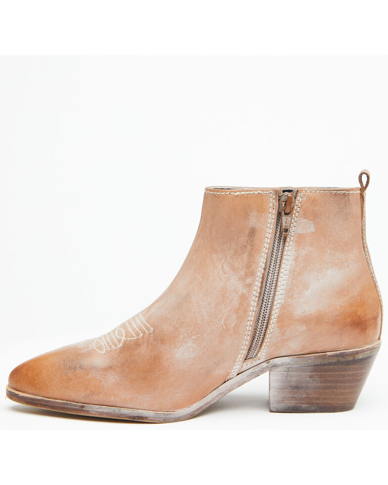 Roan By Bed Stu Women's Tan Aggie Western Fashion Booties - Round Toe, Tan, hi-res