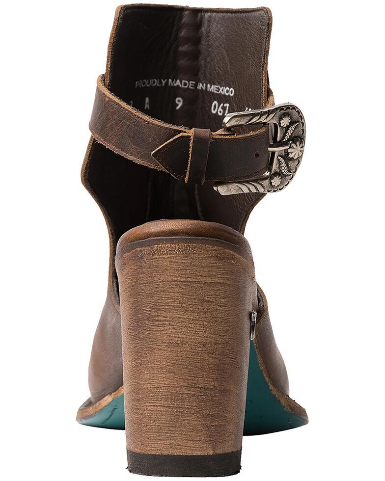 Lane Women's Hailey Halfsie Fashion Booties - Round Toe, Cognac, hi-res