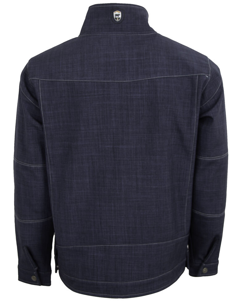 STS Ranchwear Men's Navy The Perf Softshell Jacket , Heather Blue, hi-res
