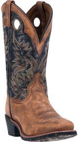 Laredo Stillwater Cowboy Boots - Square Toe , Tan, hi-res