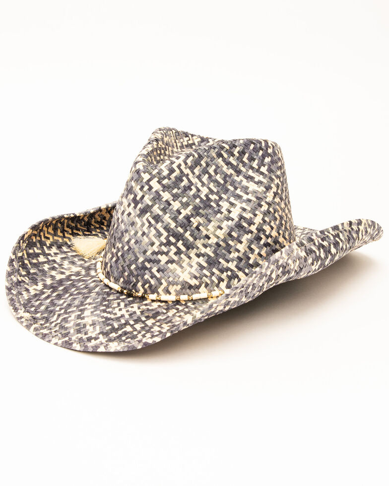 6792f0a7 Zoomed Image San Diego Hat Co. Women's Woven Studded Straw Hat, Natural,  hi-res