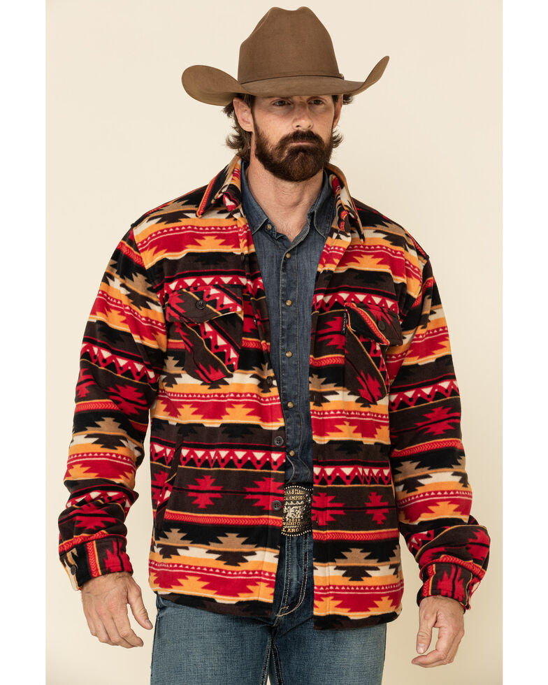 Outback Trading Co. Men's Multi Taos Aztec Big Long Sleeve Flannel Shirt, Multi, hi-res