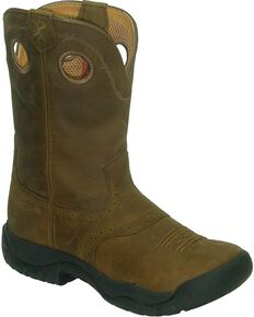 Twisted X All Around Work Boots - Round Toe, Brown, hi-res