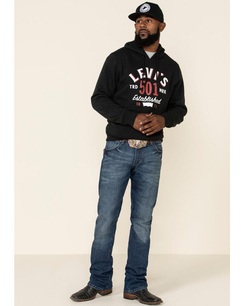 Levi's Men's Black 501 Trademark Graphic Hooded Sweatshirt , Black, hi-res