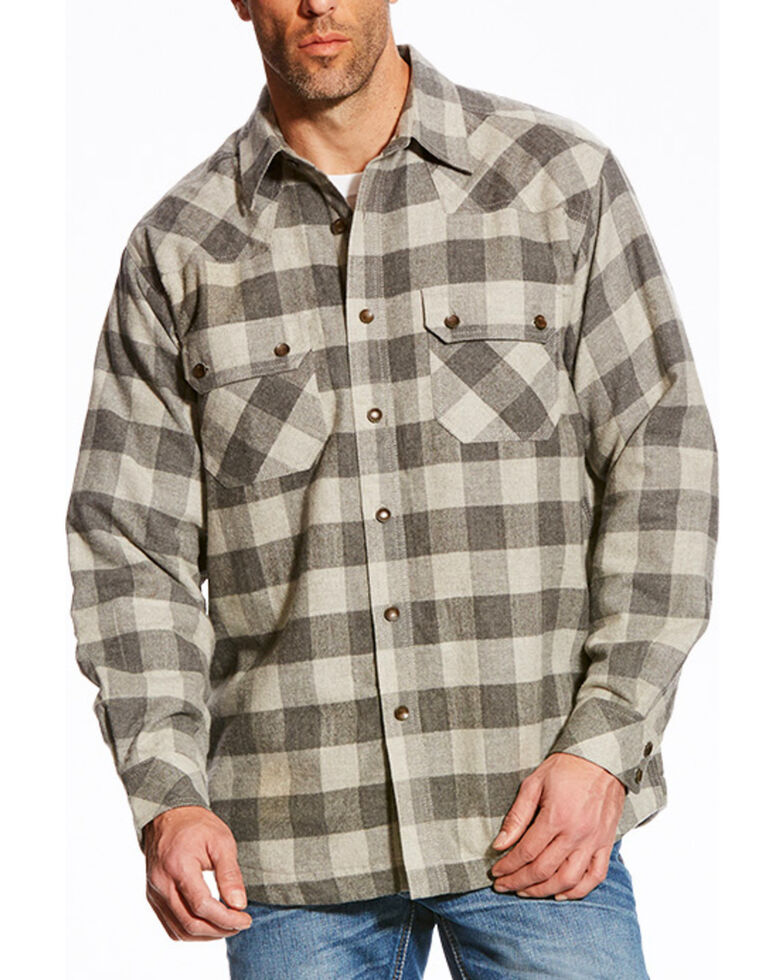 Ariat Men's Grey Wes Retro Shirt Western Woven Jacket , Grey, hi-res