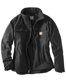 Carhartt Men's Quick Duck Jefferson Traditional Work Jacket - Big & Tall, Black, hi-res