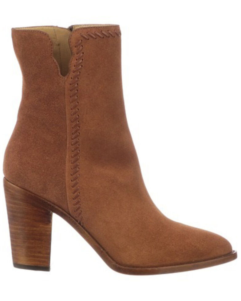 Lucchese Women's Allie Fashion Booties - Pointed Toe, Brown, hi-res