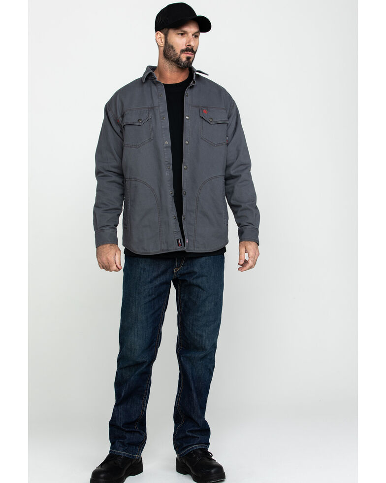 Ariat Men's FR Rig Shirt Work Jacket - Tall , Grey, hi-res