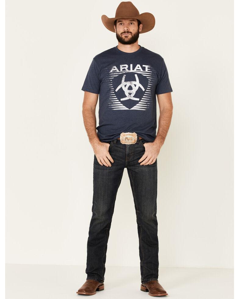 Ariat Men's Heather Navy Shade Logo Graphic T-Shirt , Navy, hi-res
