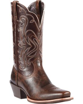 Ariat Legend Chocolate Chip Cowgirl Boots - Snip Toe, Chocolate, hi-res