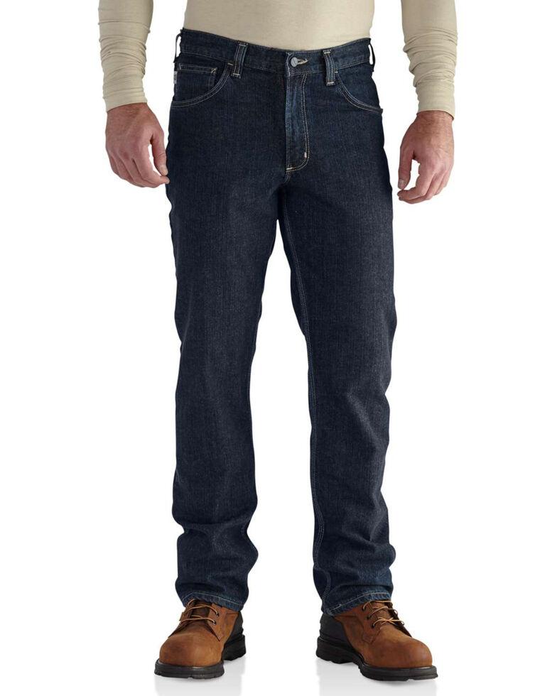 Carhartt Men's Flame Resistant RuggedFlex Traditional Fit Jeans, Indigo, hi-res