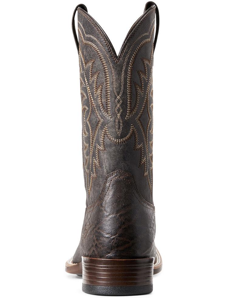 Ariat Men's Bantam Ryden Elephant Print Western Boots – Square Toe , Chocolate, hi-res