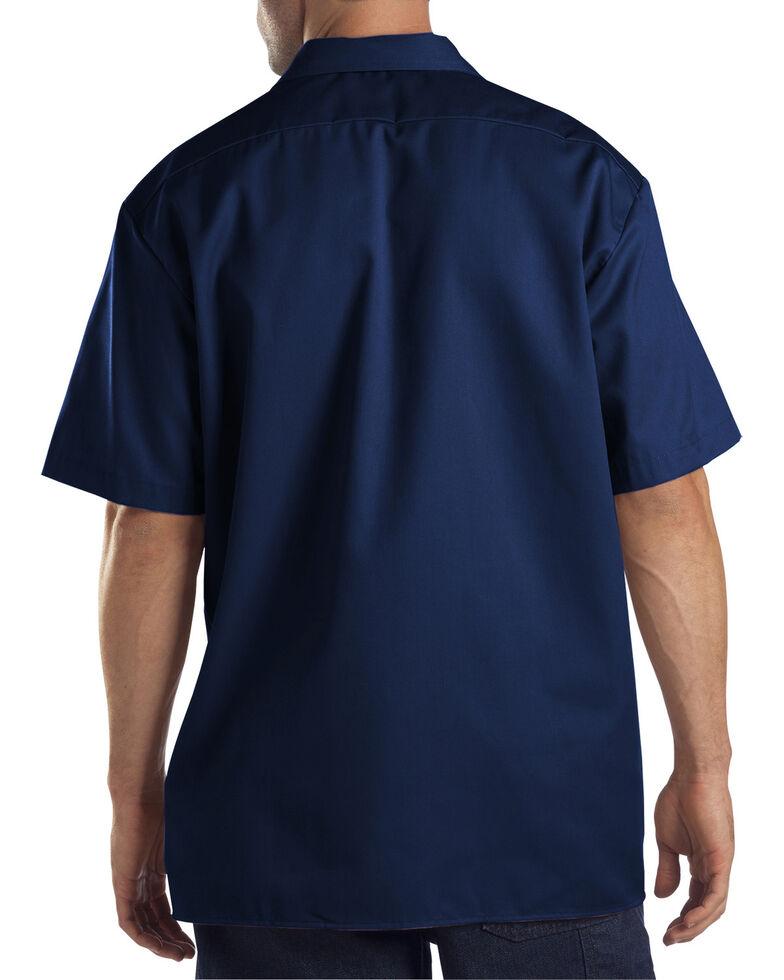 Dickies Short Sleeve Twill Work Shirt - Big & Tall-Folded, Dark Blue, hi-res
