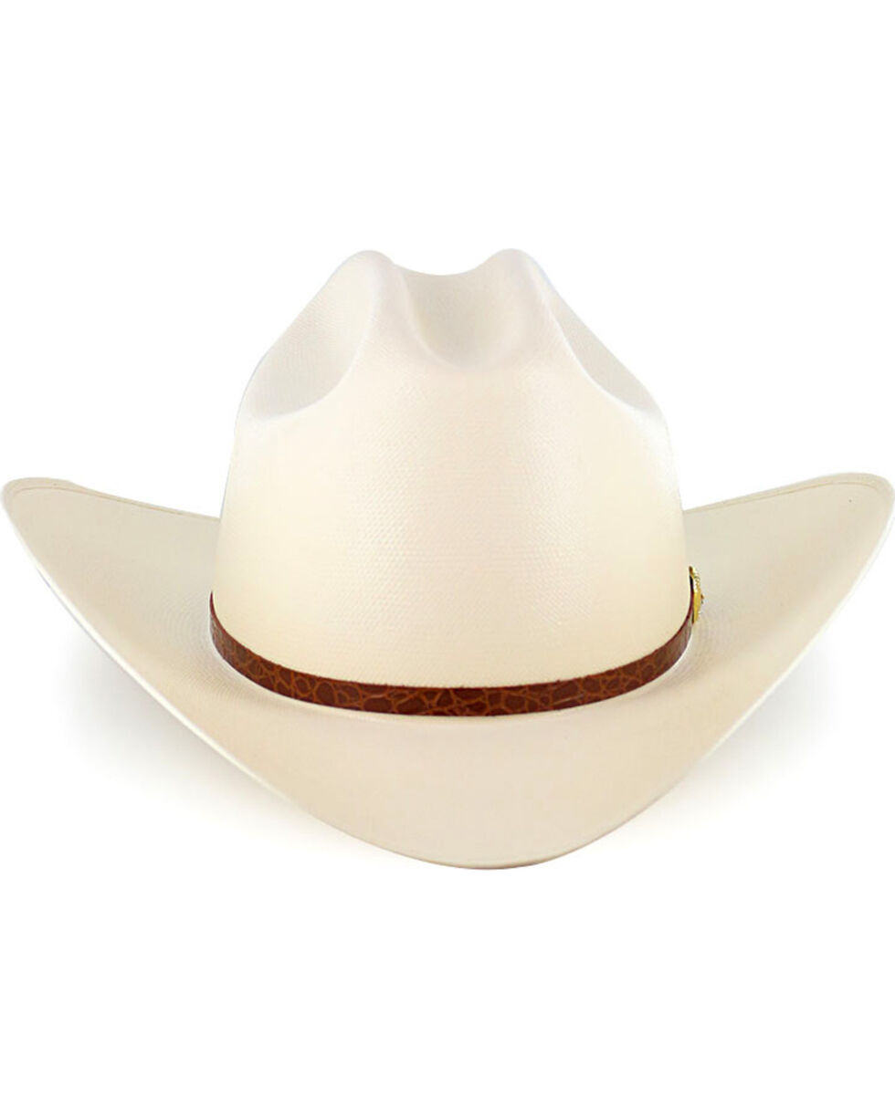 Larry Mahan Men's 15X El Primero Straw Cowboy Hat, Natural, hi-res