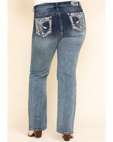 Grace in LA Women's Dream Catcher Straight Jeans - Plus, Blue, hi-res