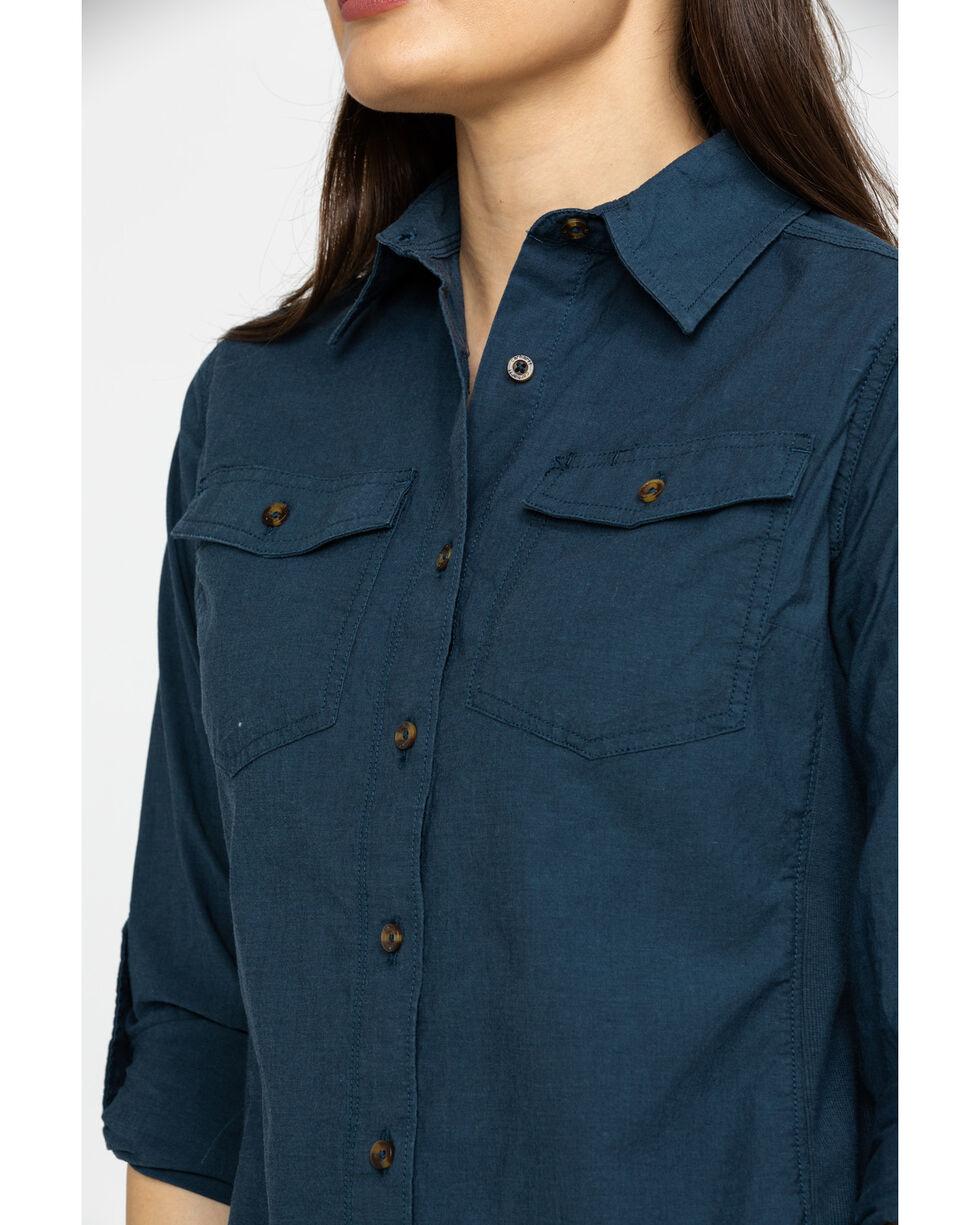 Carhartt Women's Navy Rugged Flex Bozeman Shirt, Navy, hi-res