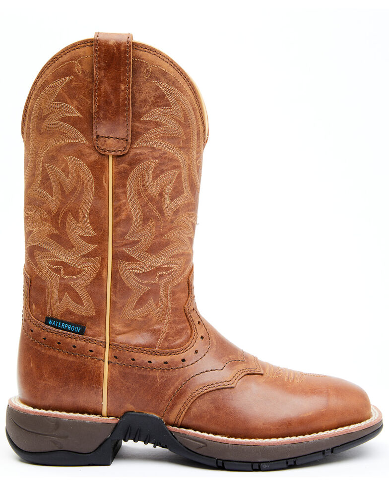 Shyanne Women's Charley Performance Western Boots - Wide Square Toe, Tan, hi-res