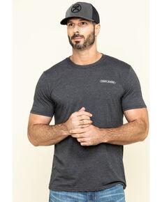 Cody James Men's American Cowboy Flag Skull Graphic Short Sleeve T-Shirt , Heather Grey, hi-res