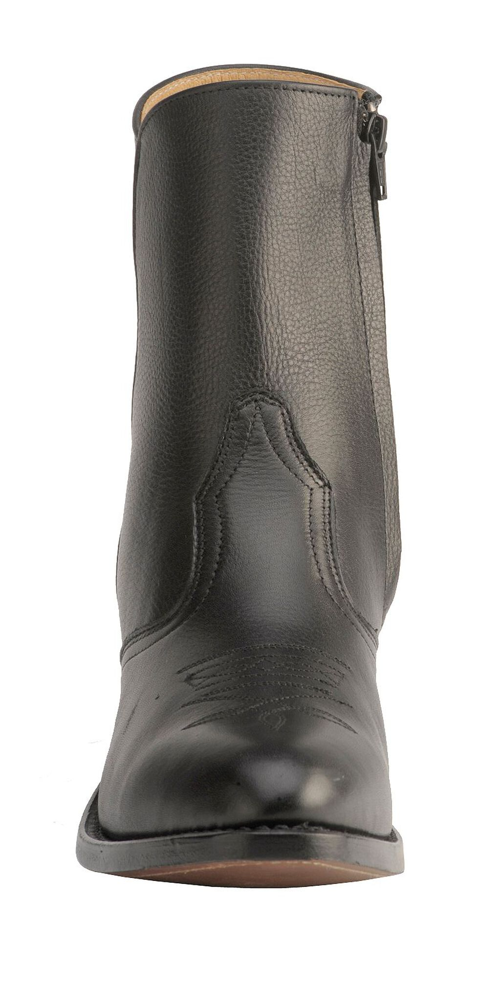 "Boulet Men's 7"" Western Zipper Boots - Medium Toe, Black, hi-res"