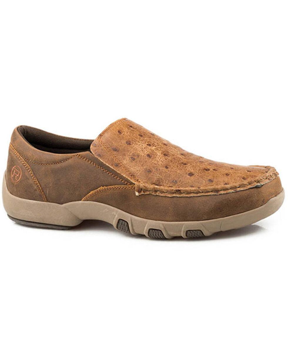 Roper Men's Chomp Slip-On Shoes - Moc Toe, Tan, hi-res