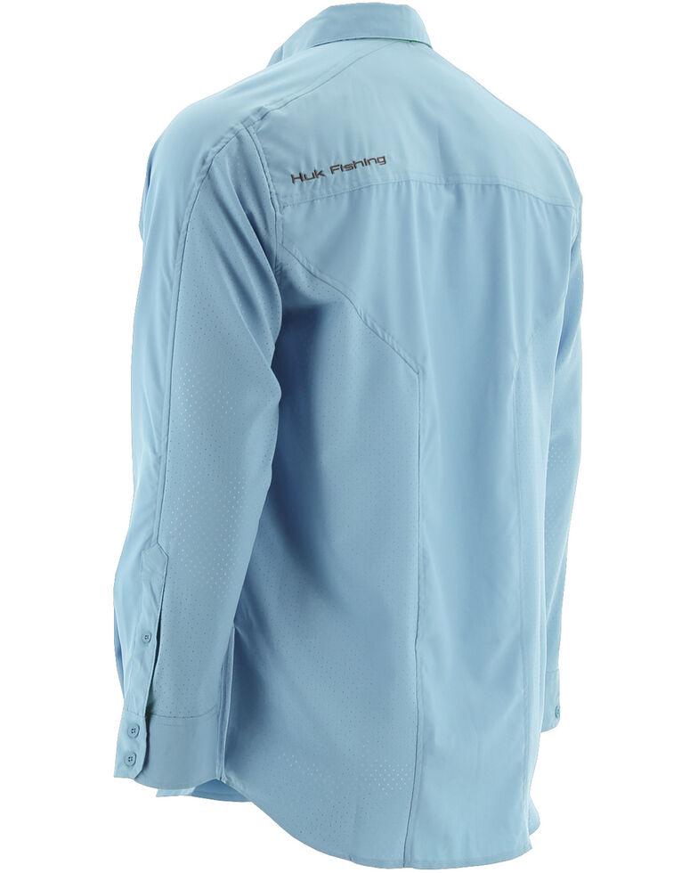 Huk Performance Fishing Men's Next Level Woven Shirt , Light Blue, hi-res