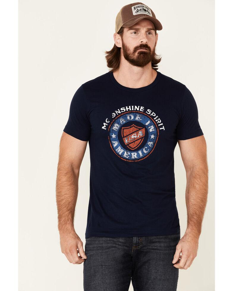 Moonshine Spirit Men's Made In America Graphic Short Sleeve T-Shirt , Navy, hi-res