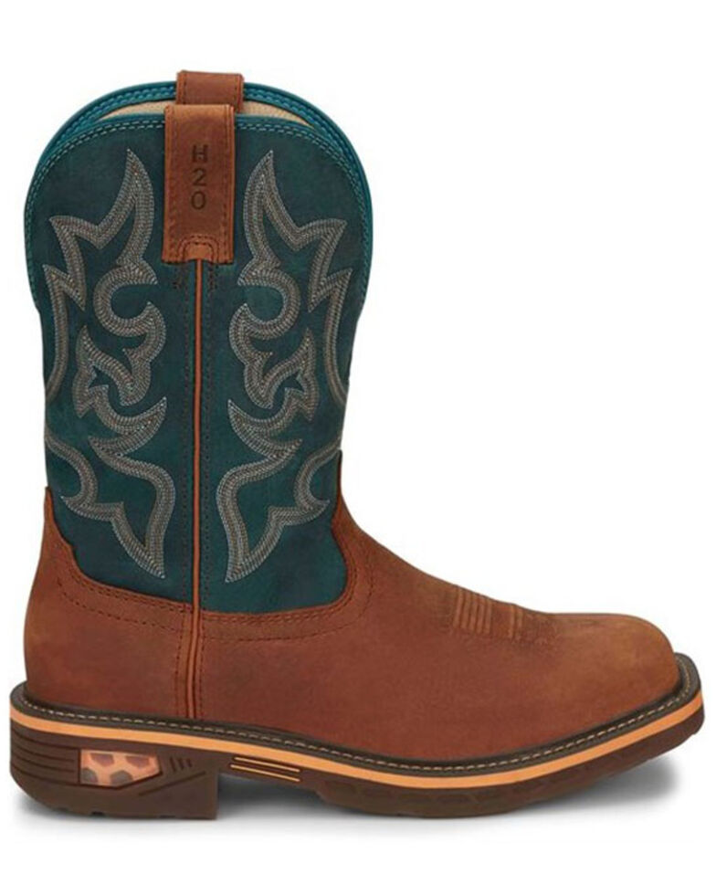 Justin Men's Resistor Western Work Boots - Composite Toe, Russett, hi-res