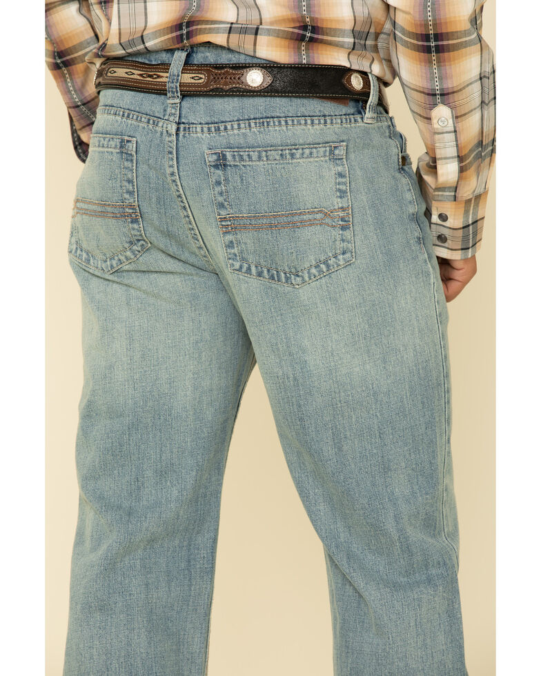 Cody James Men's River Rock Light Wash Rigid Relaxed Straight Jeans , Blue, hi-res