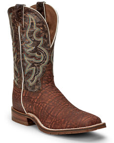 Tony Lama Men's Galen Western Boots - Wide Square Toe, Brown, hi-res