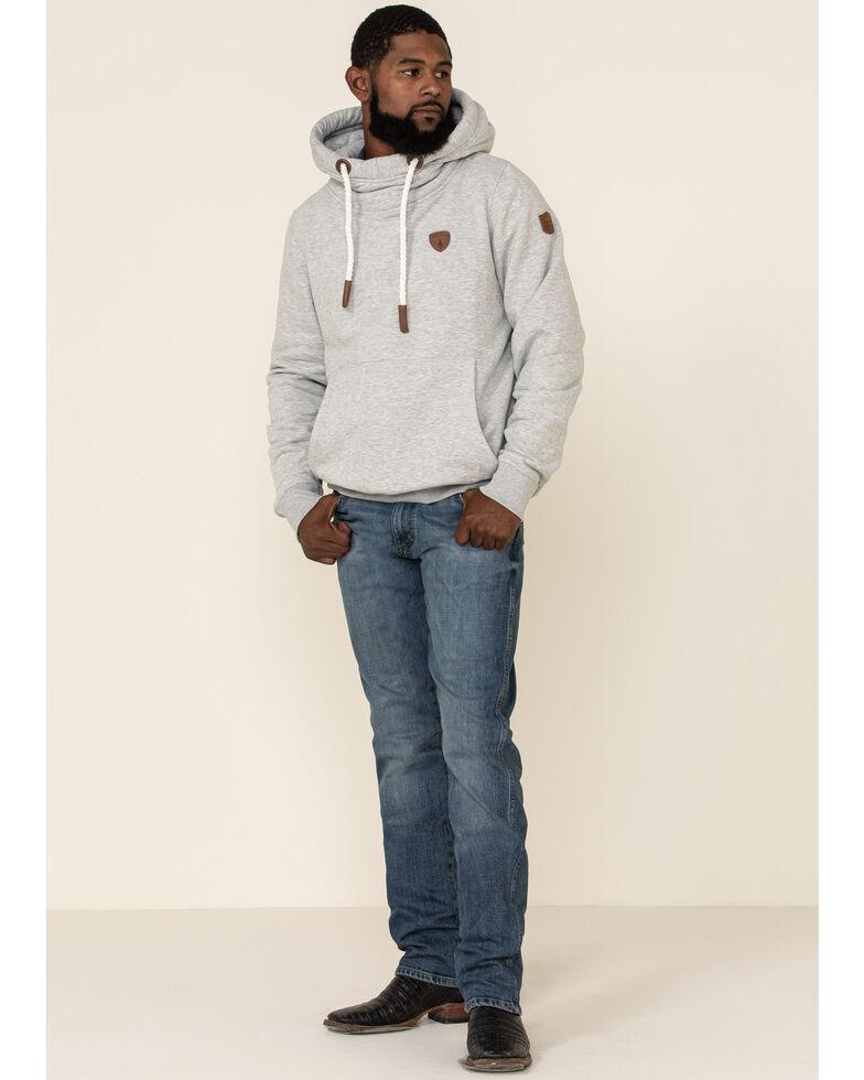 Wanakome Men's Light Grey Firestone French Terry Hooded Sweatshirt , Light Grey, hi-res