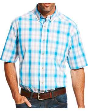 Ariat Men's Pro Series Lowry Plaid Short Sleeve Button Down Shirt, Multi, hi-res