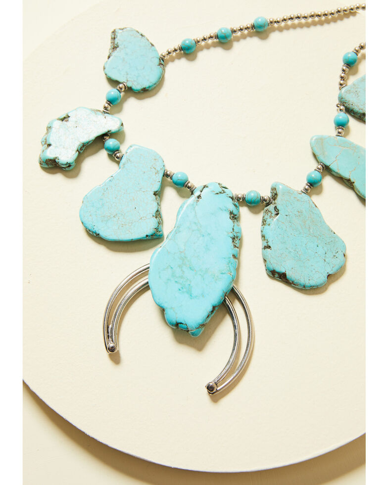 Cowgirl Confetti Women's Shower With Love Necklace, Turquoise, hi-res