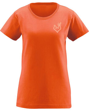 Browning Women's Turkey Feather Buckheart Tee , Light Orange, hi-res