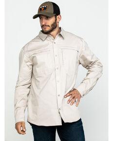 Hawx® Men's Khaki Stretch Twill Long Sleeve Work Shirt , Beige/khaki, hi-res