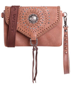 Montana West Women's Concho Crossbody Bag, Brown, hi-res