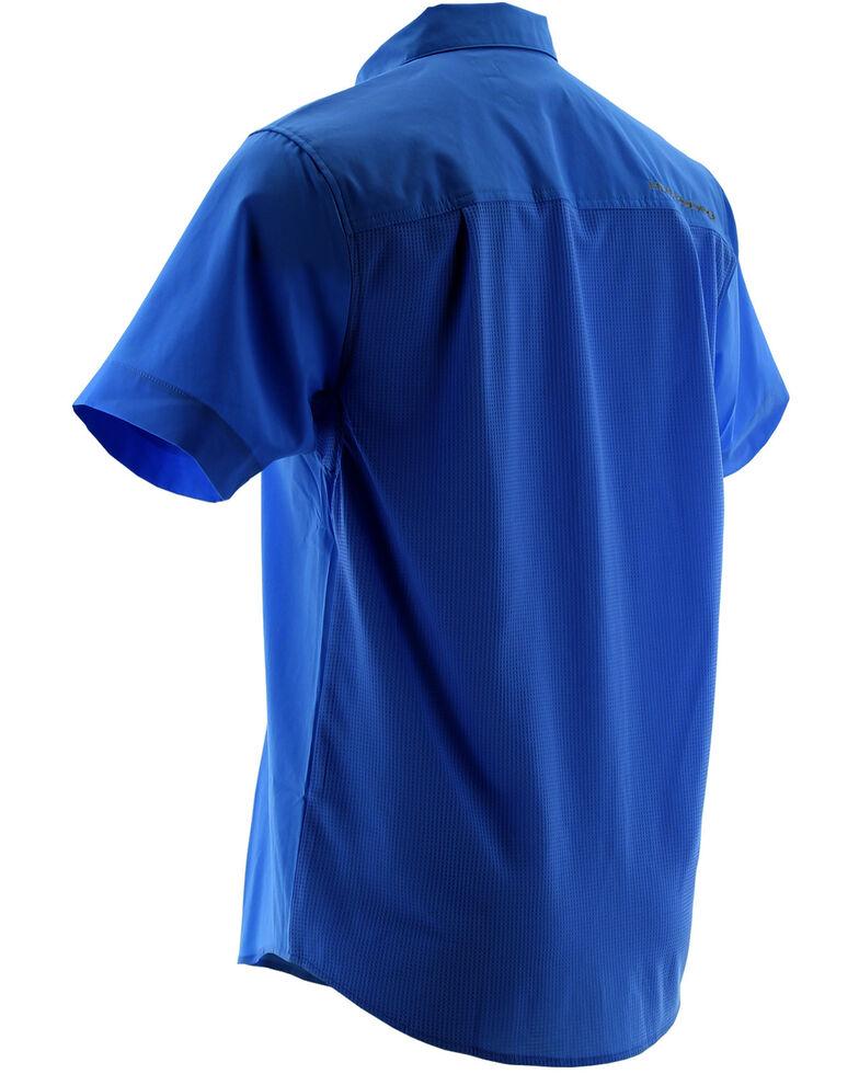 Huk Performance Fishing Men's Phenom Short Sleeve Shirt , Royal, hi-res