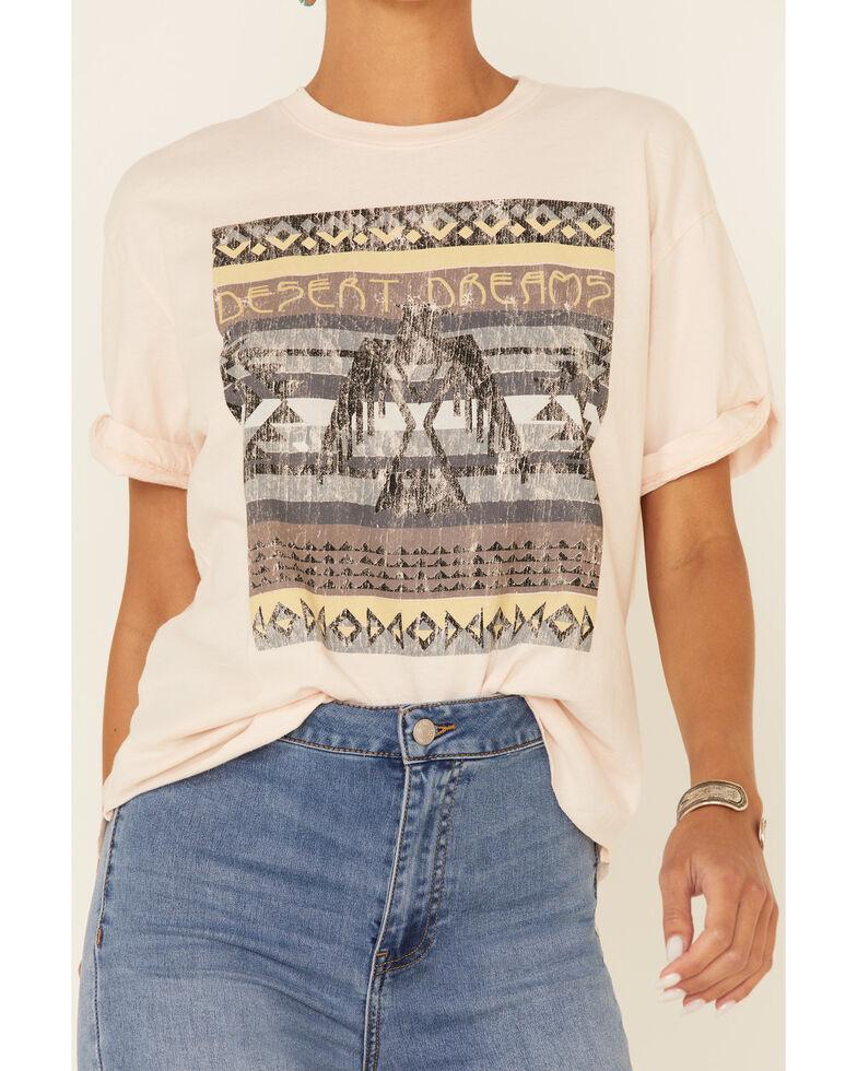 American Highway Women's Aztec Desert Dreams Graphic Short Sleeve Tee , Blush, hi-res