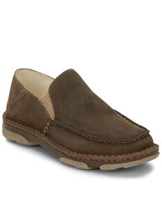 Tony Lama Men's Gator Cement Slip-On Shoes, Grey, hi-res