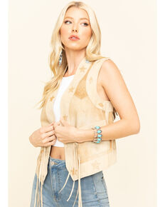 Tasha Polizzi Women's Starry Vest, Tan, hi-res