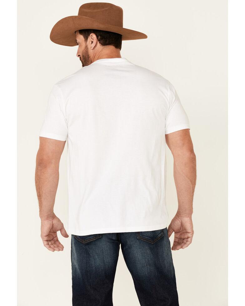 Ariat Men's White Flag Tone Graphic Short Sleeve T-Shirt , White, hi-res