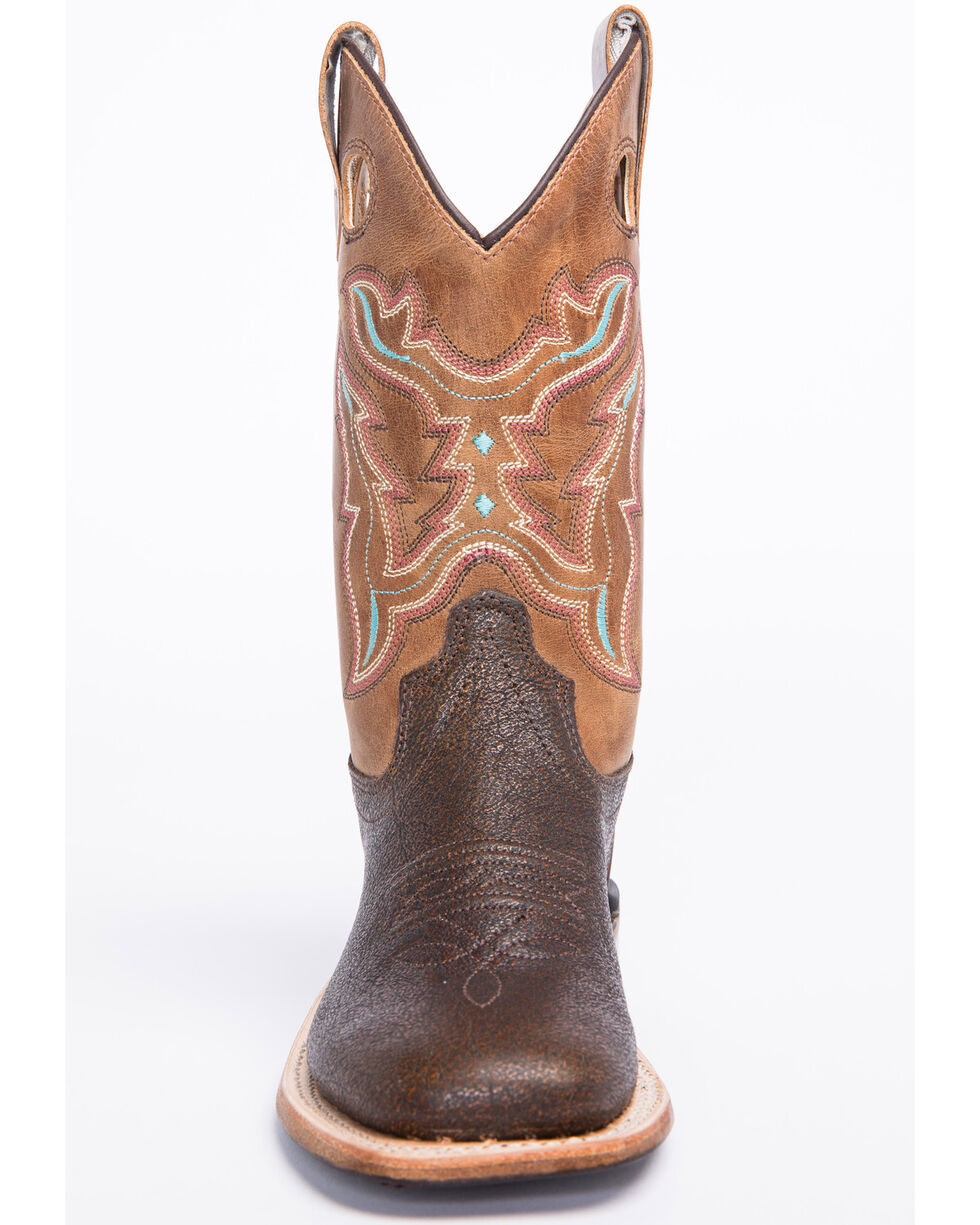 "Cody James Boys' 9"" Western Boots - Wide Square Toe, Brown, hi-res"