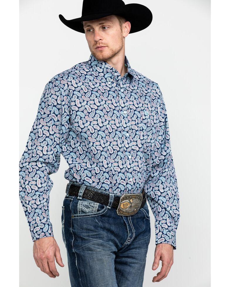 Cinch Men's Multi Paisley Print Button Long Sleeve Western Shirt , Multi, hi-res