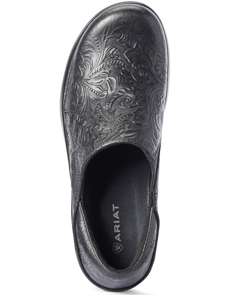 Ariat Women's Hera Expert Tooled Clogs, Black, hi-res